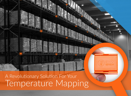 SenseAnywhere warehouse temperature mapping, SenseAnywhere AiroSensor