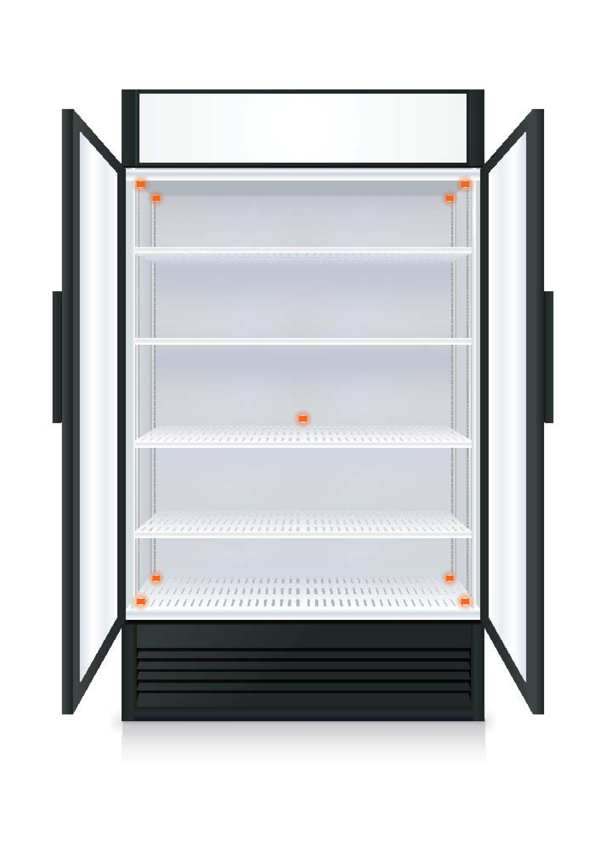 fridge temperature mapping