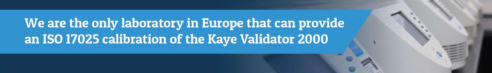 Kaye validator 2000 calibration, UKAS calibration
