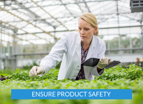 ENSURE PRODUCT SAFETY
