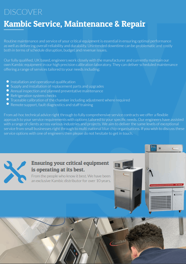 Kambic Service, Calibration & Maintenance Flyer