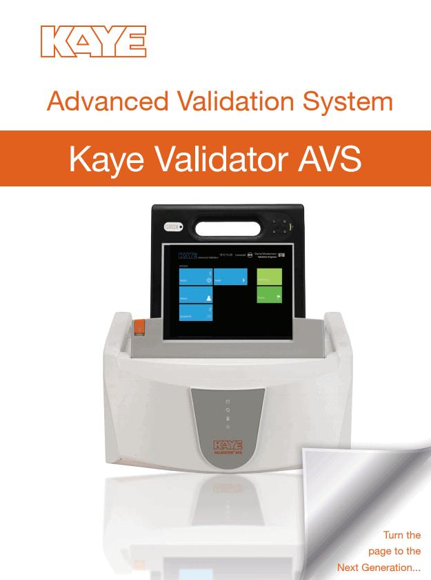 Thermal Validation System Kaye AVS Brochure Cover