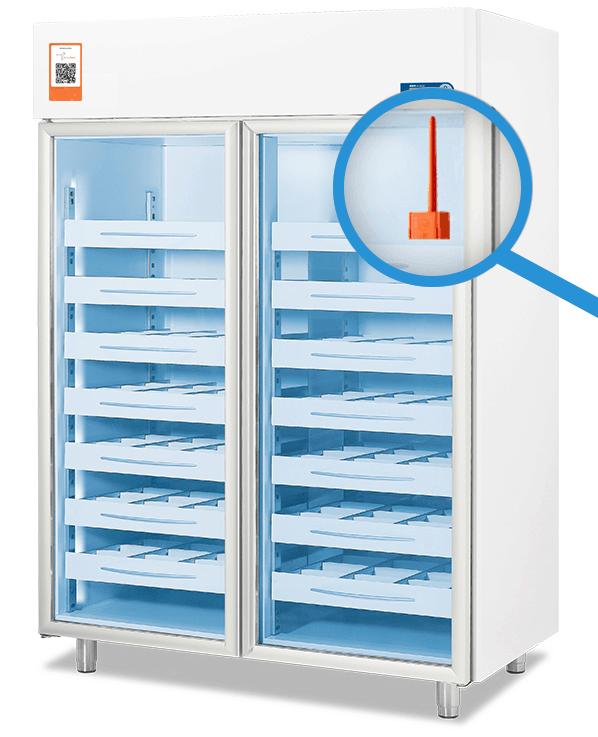 SenseAnywhere data logger in fridge