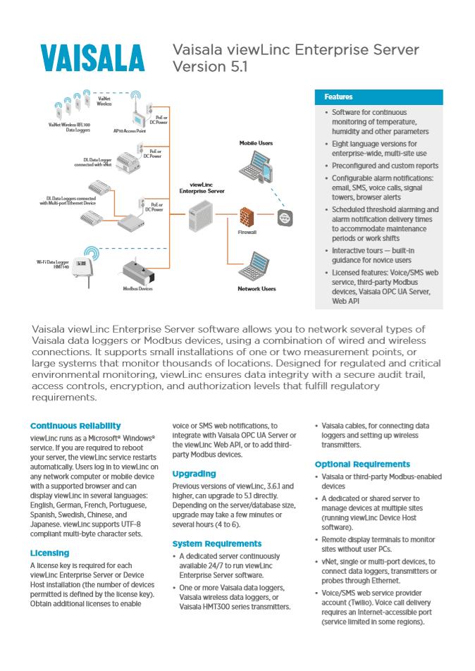 ViewLinc 5.1 Cover