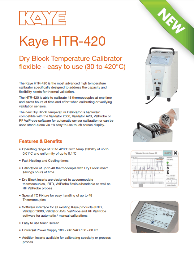 Kaye HTR-420 TDS
