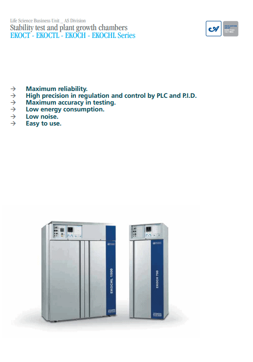 Plant Growth & Stability Test Chambers Brochure