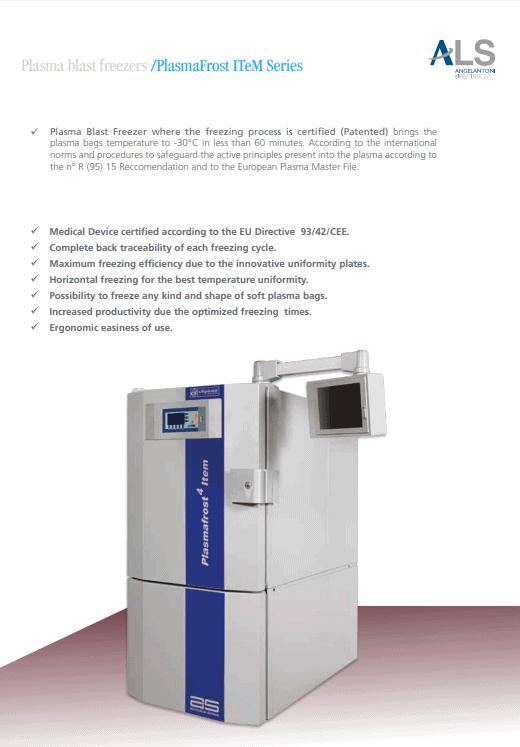 PlasmaFrost ITeM™ Plasma Blast Freezing Unit