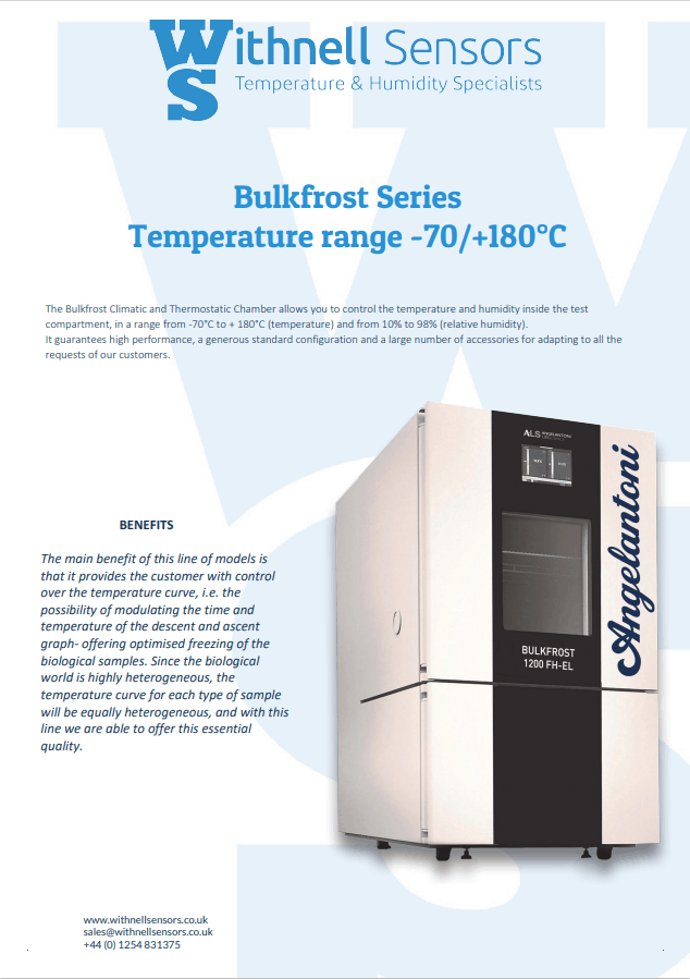 Bulkfrost climatic and thermostatic chamber